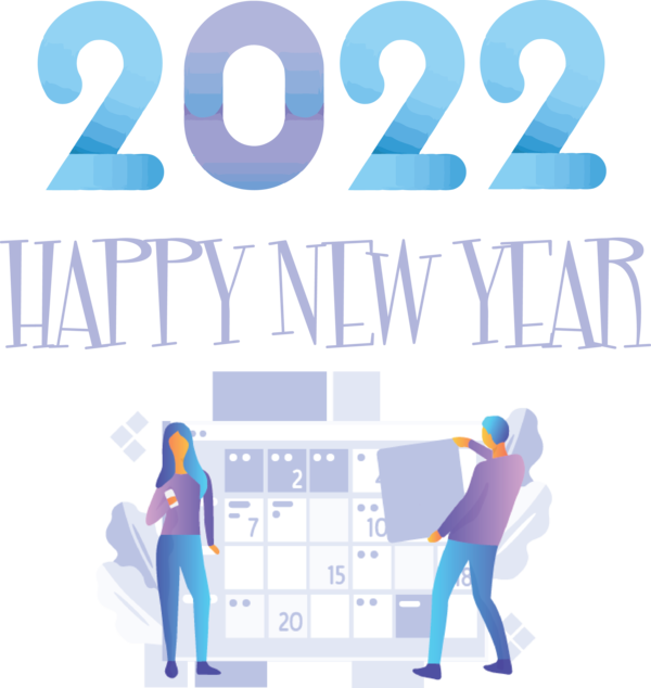 Transparent New Year Logo Design Text for Happy New Year 2022 for New Year