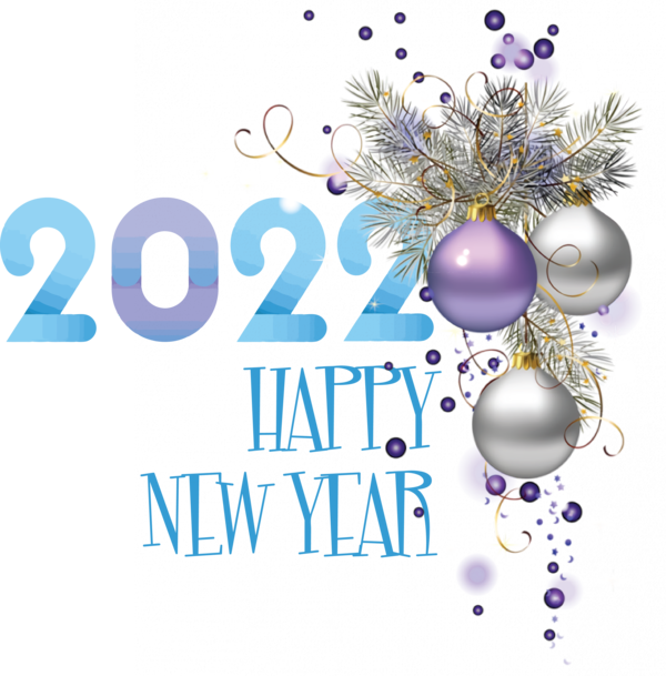 Transparent New Year Logo Christmas Ornament M Font for Happy New Year 2022 for New Year