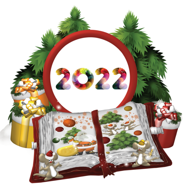 Transparent New Year Christmas Day Bauble HOLIDAY ORNAMENT for Happy New Year 2022 for New Year