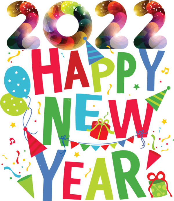 Transparent New Year Line Design Meter for Happy New Year 2022 for New Year