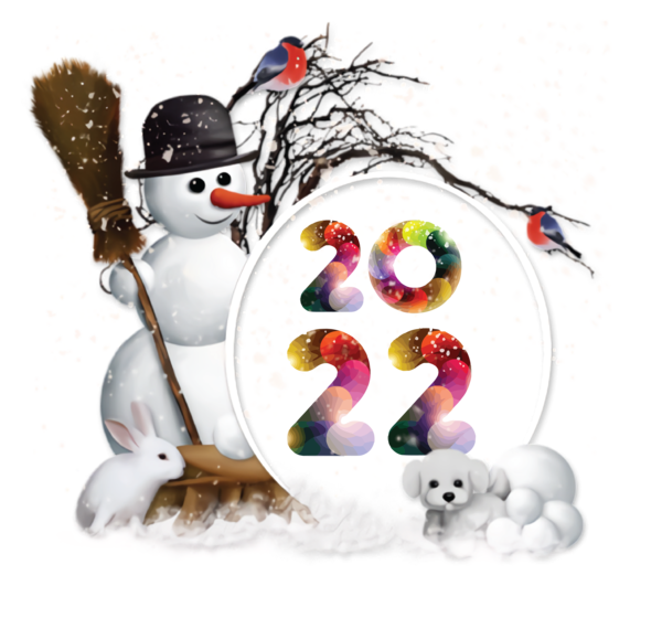 Transparent New Year Snowman Christmas Day Transparent Christmas for Happy New Year 2022 for New Year
