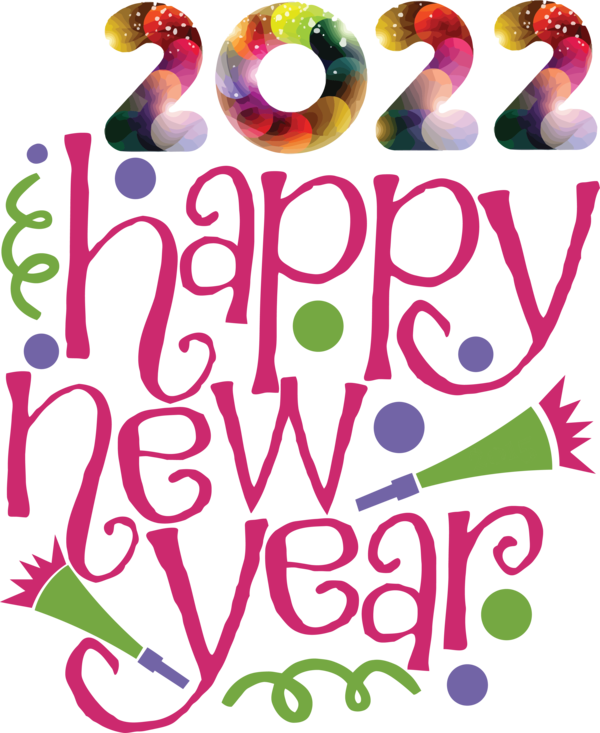 Transparent New Year Design Line Meter for Happy New Year 2022 for New Year