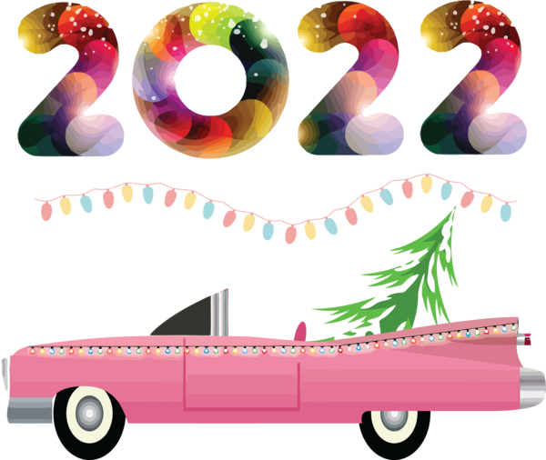 Transparent New Year Design Meter for Happy New Year 2022 for New Year