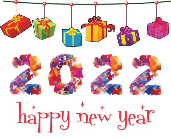 Transparent New Year Meter Line Sugar for Happy New Year 2022 for New Year