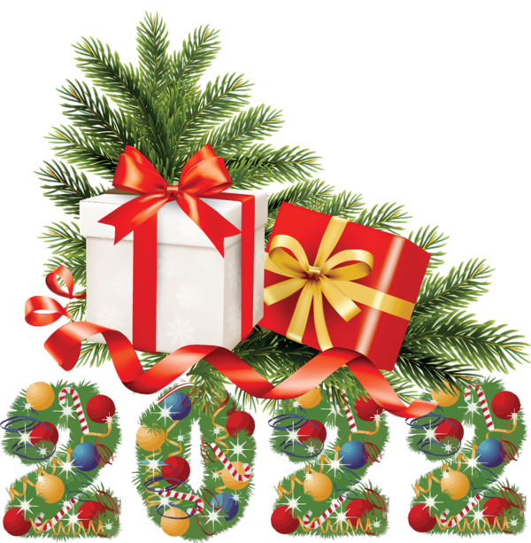 Transparent New Year Gift  Christmas Day for Happy New Year 2022 for New Year