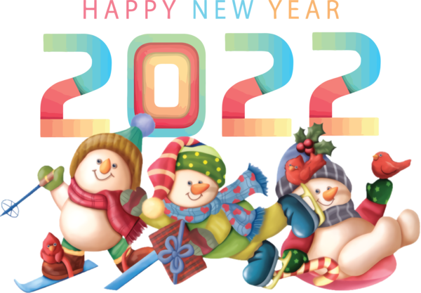 Transparent New Year Christmas Day Snowman New Year for Happy New Year 2022 for New Year