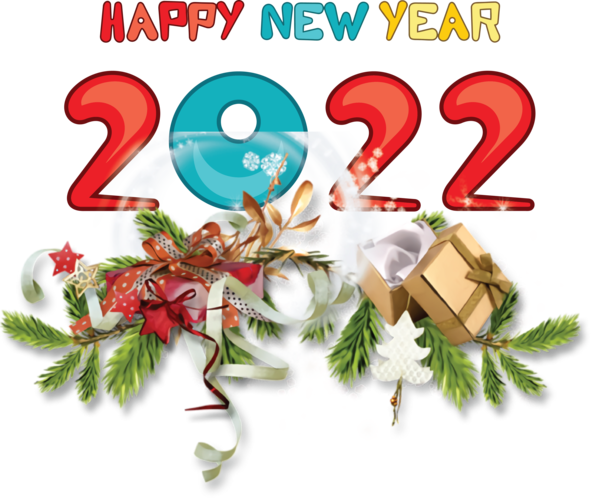 Transparent New Year Christmas Day Bauble New Year for Happy New Year 2022 for New Year